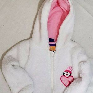 White Easter Bunny Rabbit Pajamas 6-9 month